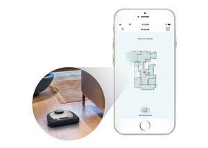 la cartographie de la maison sur l'app