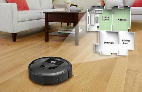 Aspirateur robot carte maison